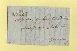 Loano -108 - 1809 - Destination Savona - Departement Conquis De Montenotte - Poststempel (Briefe)