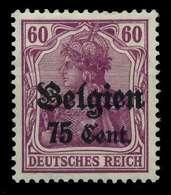 BES 1WK LP BELGIEN Nr 21b Ungebraucht X77B36E - Occupation 1914-18