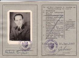 Führerschein Klagenfurt Österreich 1947 (41253) - Historische Dokumente