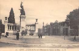 69 - LYON - L'entrée Du Parc Et Le Monument Des Enfants Du Rhône - Lyon