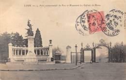 69 - LYON - Porte Monumentale Du Parc Et Monument Des Enfants Du Rhône - Lyon