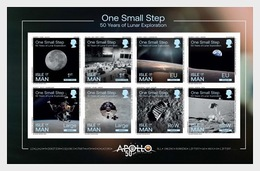 Isle Of Man 2019 - One Small Step Booklet Pane Mnh - Isola Di Man