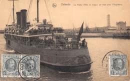 "OSTENDE - La Malle ""Ville De Liège"" En Route Pour L'Angleterre - Oostende"