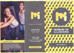 Museo Delle Illusioni Di Lubiana, Slovenia - Museum Of Illusions - Muzej Iluzij - Opuscolo Pieghevole Illustrativo - Dépliants Turistici