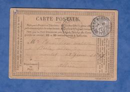 """CPA Précurseur De 1877 - Cachet De Départ """" Gare De Montluçon """" - Signature à Identifier Au Verso - MESPLES ? - Montlucon"""