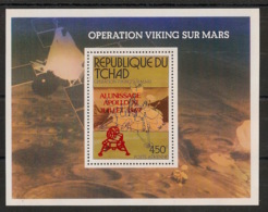 Tchad - 1979 - Bloc Feuillet N°Yv. 31 - Apollo 11 - Surcharge Rouge / Red Ovpt. - Neuf Luxe ** / MNH / Postfrisch - Afrika
