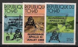Tchad - 1979 - Poste Aérienne PA N°Yv. 232 à 234 - Apollo 11 - Neuf Luxe ** / MNH / Postfrisch - Afrika
