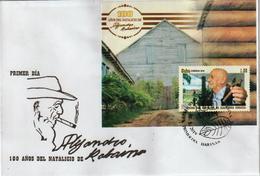 Cuba 2019 100th Anniversary Of Alejandro Robaina's Birthdate. Tobacco's Farmer S/S FDC's - Cuba