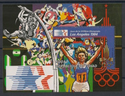 Tchad - 1982 - Bloc Feuillet BF N°Yv. 34 - Olympics / Los Angeles 84 - Neuf Luxe ** / MNH / Postfrisch - Estate 1984: Los Angeles