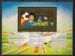 Tchad - 1983 - Poste Aérienne N°Yv. 246F - Football World Cup - KLB / Mini Sheet - OR - Neuf Luxe ** / MNH / Postfrisch - Fußball-Weltmeisterschaft