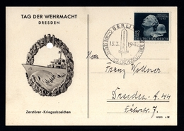 J47-GERMAN EMPIRE-MILITARY PROPAGANDA POSTCARD WEHRMACHT DAY.1942.WWII.DEUTSCHES REICH.POSTKARTE.carte Postale - Germania