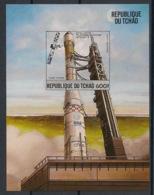 Tchad - 1984 - Bloc Feuillet BF N°Yv. 46 - Fusée Ariane - Non Dentelé / Imperf. - Neuf Luxe ** / MNH / Postfrisch - Afrika