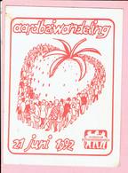 Sticker - Aardbeiwandeling 1992 - Wandelclub De Noorderkempen - Autocollants