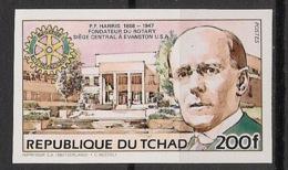 Tchad - 1984 - N°Mi. 1032B - Harris / Rotary - Non Dentelé / Imperf. - Neuf Luxe ** / MNH / Postfrisch - Rotary, Lions Club