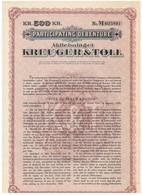 Action Ancienne - Lot De 2 Titres Participating Debenture  Aktiebolaget Kreuger & Toll - Titres De 1928 - Industrie