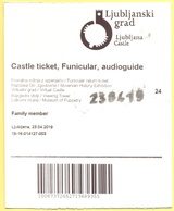 Castello Di Lubiana, Slovenia - Ljubljana Castle - Ljubljanski Grad - Funicular - Audioguide - Biglietto Andata E Ritorn - Biglietti Di Trasporto