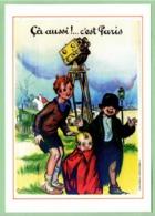 Carte Postale : ça Aussi !... C'est Paris (caméra) (film - Cinéma - Affiche) Illustration : Poulbot - Poulbot, F.