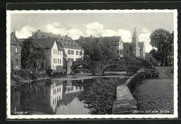 AK Hadamar, Schloss Mit Alter Brücke - Hadamar