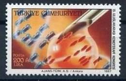 1987 TURKEY 15TH INTERNATIONAL CONGRESS OF CHEMOTHERAPY MNH ** - Medicina