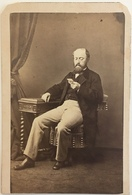 CDV. Homme Concentré. Photographe Durand à Lyon. - Old (before 1900)