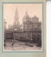 SANTIAGO De COMPOSTELLA 1929 Scène De Rue  Vue D'ensemble Photo Amateur Format Environ 7,5 Cm X 5,5 Cm - Places