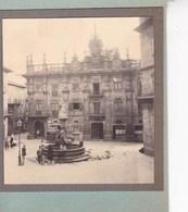 SANTIAGO De COMPOSTELLA 1929 Scène De Rue  Vue D'ensemble Photo Amateur Format Environ 7,5 Cm X 5,5 Cm - Plaatsen