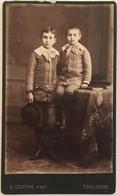 CDV. Deux Frères. Photographe Cousin à Toulouse. - Old (before 1900)