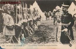 INDE INDIA CROQUIS DE GUERRE LORD KITCHENER INSPECTE LES TROUPES INDIENNES WAR MILITARY - Personnages