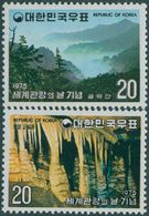 1975 South Korea Tourism Day Stamps Park Mount Forest Rock - Natuur