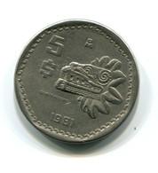 1981 Mexico 5  Pesos Coin - Mexico