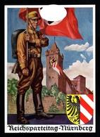 00001-GERMAN EMPIRE-MILITARY PROPAGANDA POSTCARD REICHSPARTEITAGE Nurnberg.1936.WWII.DEUTSCHES REICH.Postkarte. - Briefe U. Dokumente