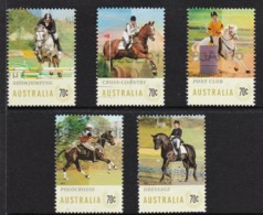 Australia 2014 Equestrian Events - Horses Set Of 5 Used - 2010-... Elizabeth II