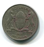 1977 Botswana 50 Thebe Coin - Botswana