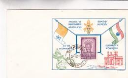 SPAULUS VI MISSIONARIUS APOSTOLICUS 38TH INTERNATIONAL SPECIAL COVER OBLITEREE YEAR 1934 BOMBAY ENVELOPPE - BLEUP - India
