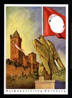 12581-GERMAN EMPIRE-MILITARY PROPAGANDA POSTCARD REICHSPARTEITAGE Nurnberg.WWII.DEUTSCHES REICH.Postkarte. - Covers & Documents