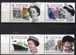 2015 Queen Elizabeth Set 4 Values MNH - South Georgia
