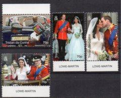 2011 Royal Wedding 4 Values X70p MNH - Tristan Da Cunha