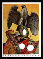 12715-GERMAN EMPIRE-MILITARY PROPAGANDA POSTCARD REICHSPARTEITAGE Nurnberg.WWII.DEUTSCHES REICH.Postkarte. - Briefe U. Dokumente