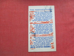 US Soldier--The Marines Hymn  Has Ink Stain    >   Ref 3374 - Militaria