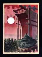 15711-GERMAN EMPIRE-MILITARY PROPAGANDA POSTCARD WEHRMACHT.WWII.Hoffmann.DEUTSCHES REICH.Postkarte.Carte Postale - Covers & Documents