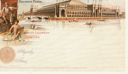 Reprints Of Official Souvenir Postal Of World's Columbian Exposition, Chicago 1893 Manufacturers And Liberal Arts - Exhibitions