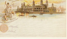 Reprints Of Official Souvenir Postal Of World's Columbian Exposition, Chicago 1893 The Electrical Building - Exhibitions