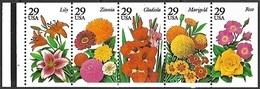 US  1994   Sc#2833a   29c  Garden Flowers Booklet Pane Of 5  MNH - Estados Unidos