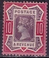 G.B. 1887-1892 Queen Victoria 10 D  Dull Purple / Deep Bright Carmine  SG 210 A MH - 1840-1901 (Viktoria)