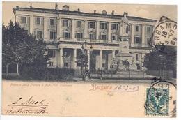 BERGAMO -- PALAZZO DELLA PRETURA E MON. VITT EMANUELE - Bergamo