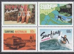 AUSTRALIA, 2013 SURFING BLOCK 4 MNH - 2010-... Elizabeth II
