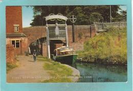 Old Small Post Card Of King`s Norton Stop Lock,Stratford Upon Avon Canal,Warwickshire,V91. - Stratford Upon Avon