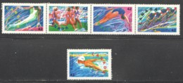 1992  Summer Olympics: Gym, Track, Diving, Cycling, Swimming Sc 1414-8 MNH - 1952-.... Elizabeth II
