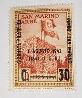 San Marino 1942 Journée Philatelique Rimini-San Marino - Unused Stamps