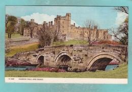 Old Small Post Card Of Haddon Hall And Bridge,Derbyshire,England,V91. - Derbyshire
